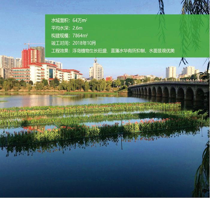 大冶市红星湖水环境综合整治生态浮岛工程